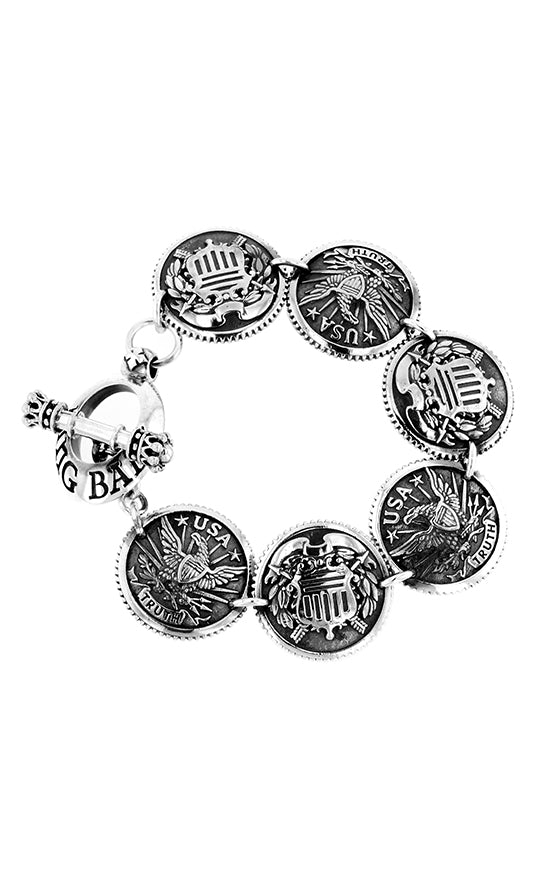 Large Eagle and Shield Concho Bracelet