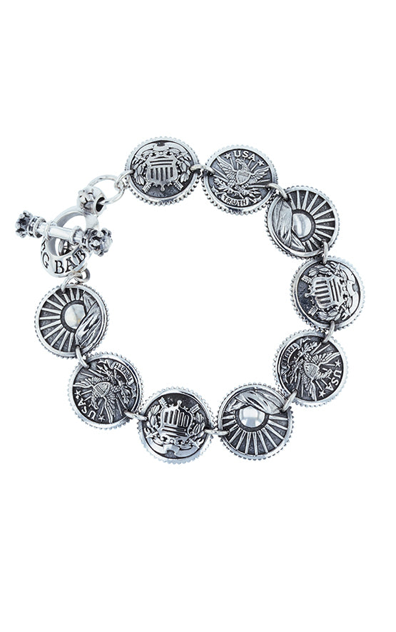 Eagle, Sun, Shield Concho Bracelet