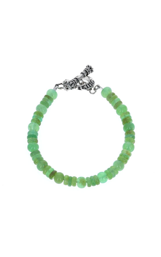 Chrysoprase Bracelet with Silver Toggle