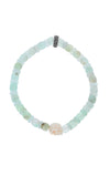 King Baby Chrysoprase Bracelet with Bone Skull
