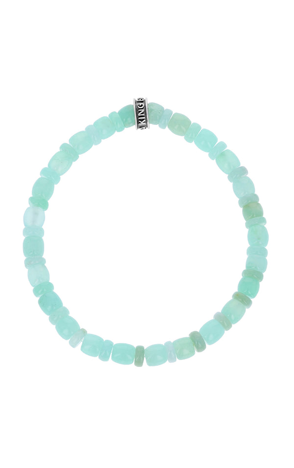 Chrysoprase Bracelet with Logo Ring