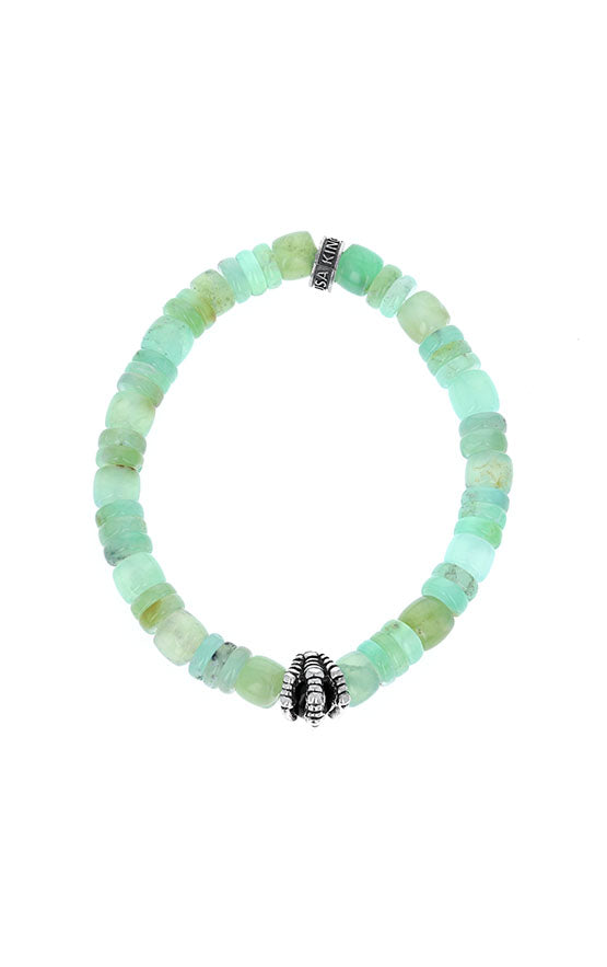 Chrysoprase Bracelet with Silver Raven Claw