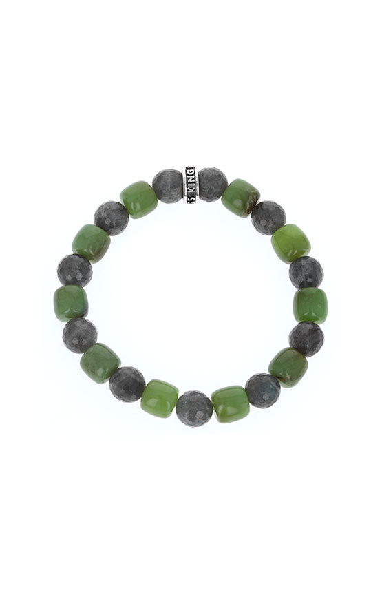 Chrysoprase Bracelet with Faceted Labradorite