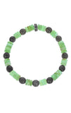 Chrysoprase Bracelet and Faceted Labadorite With Logo Bead