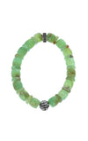 Chrysoprase Bracelet Feather Bead With Logo Ring