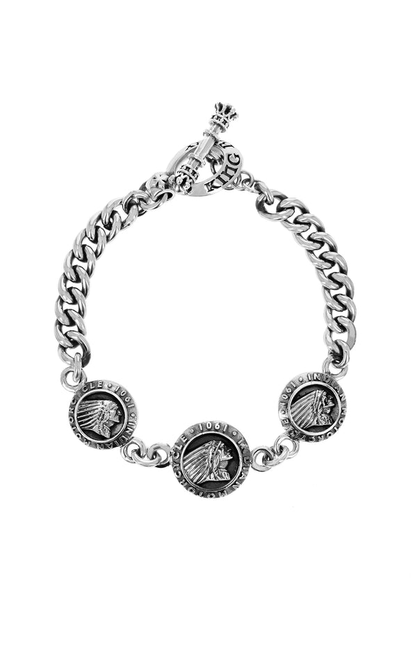 King Baby Indian Motorcycle Charm Bracelet