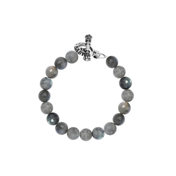 10mm Labradorite Bracelet w/Toggle Clasp