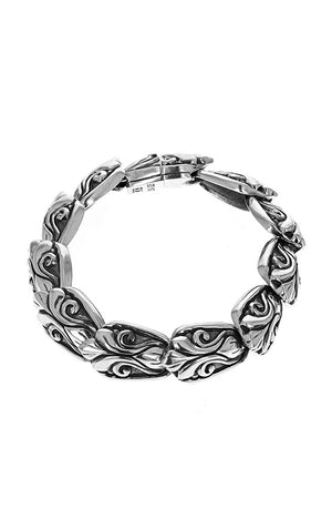 Scroll Shield Link Bracelet