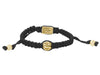 Bracelets | Macrame Bracelet with Single Brass Feather Bead