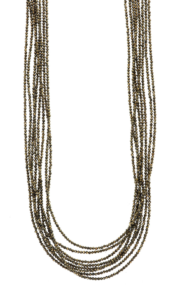king baby womens pyrite necklace