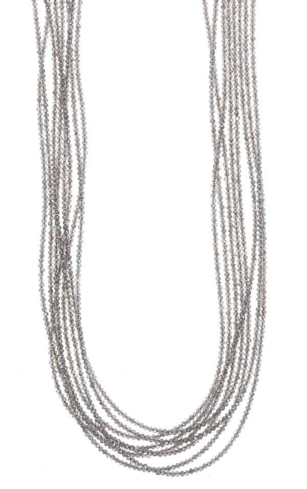 king baby womens eight strand labradorite necklace