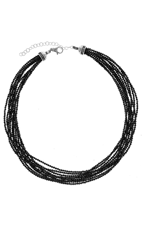 king baby womens ten strand black spinel necklace