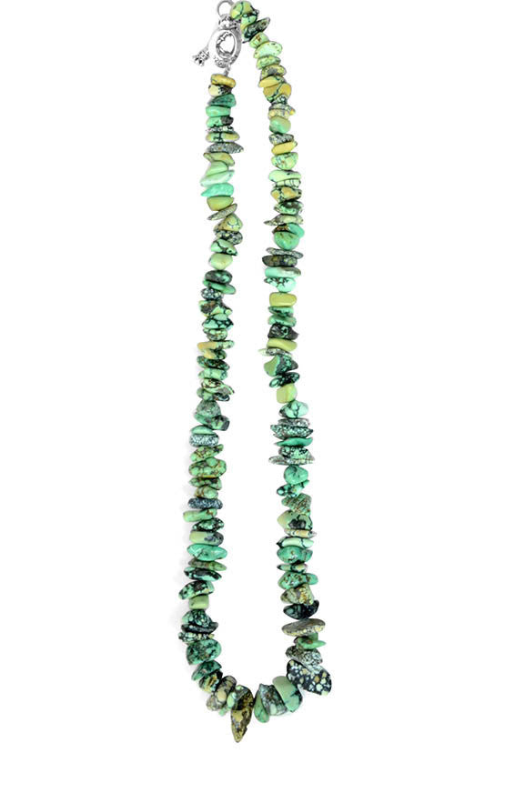 Medium Turquoise Nugget Necklace with Toggle Clasp
