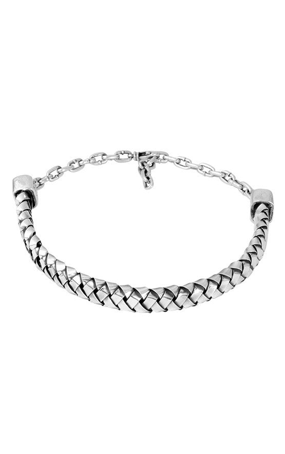 Chain Choker with Silver Braid