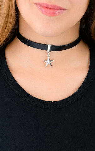 Leather Choker with a Star
