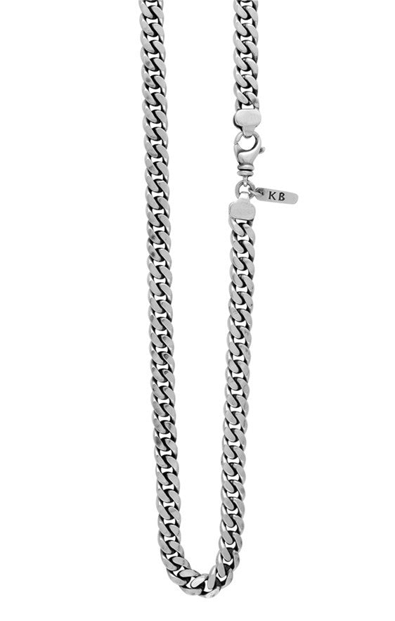 Large Flat Curb Link Necklace - 24 in.