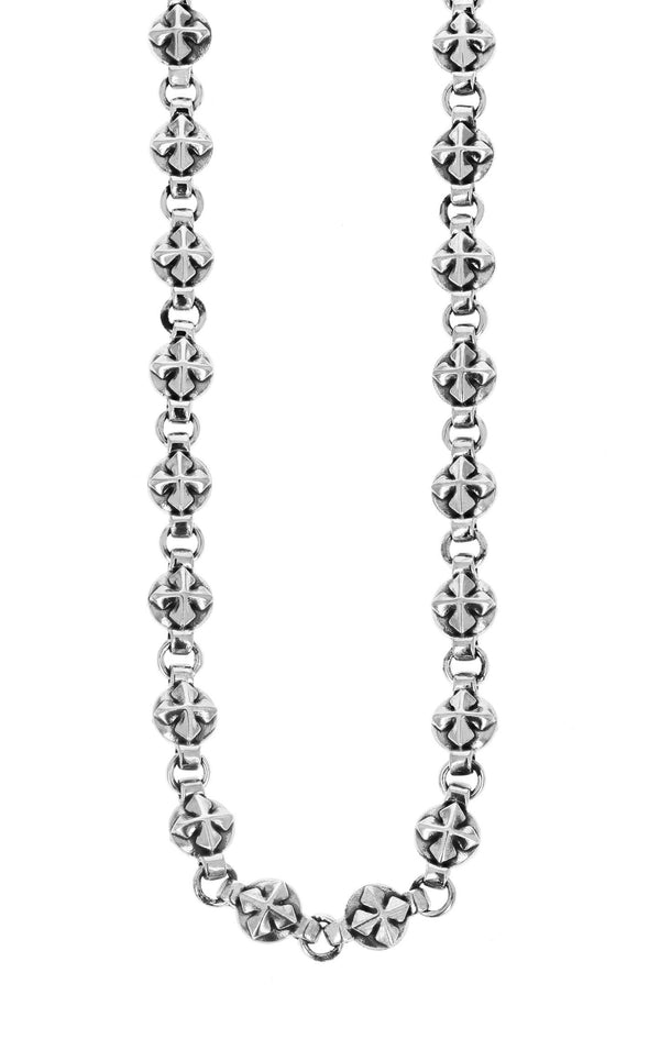 king baby round mb cross chain necklace
