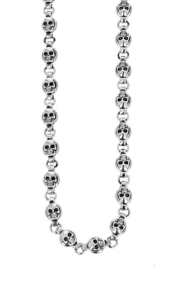king baby round skull chain necklace