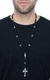 king baby men's silver rosary