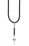 King Baby Onyx Rosary with MB Cross and Dagger