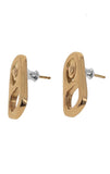 king baby 18k gold earrings