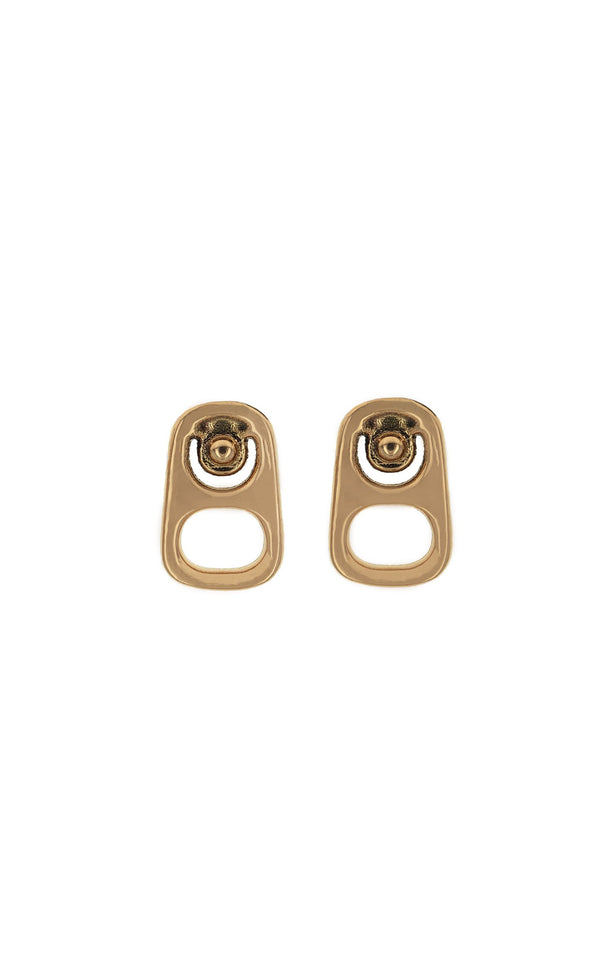 18K Gold Pop Top Stud Earrings