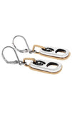 king baby sterling silver earrings with 18k gold