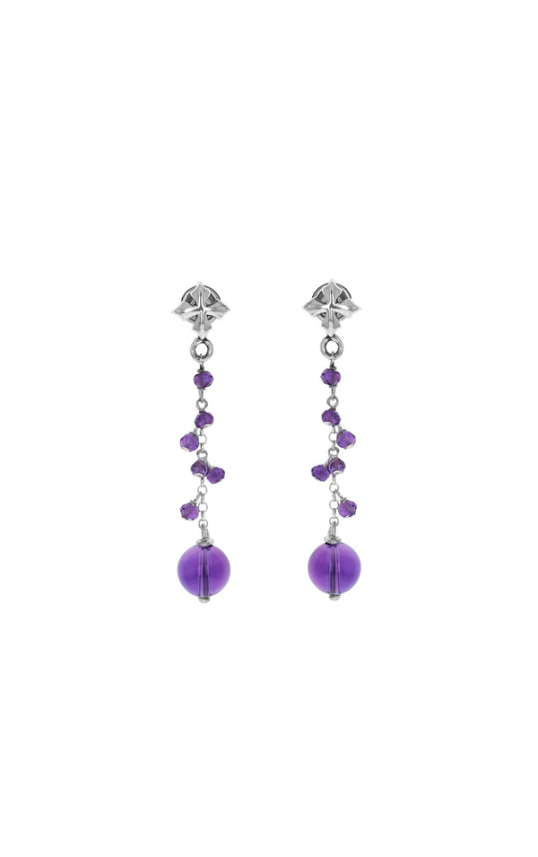 king baby womens amethyst drop earrings