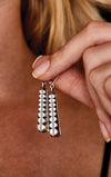 king baby silver citadel earrings