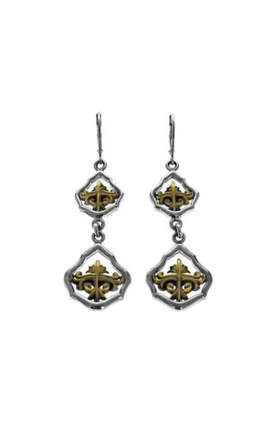 Framed KB Scroll Earrings