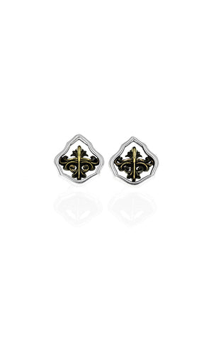 king baby scroll stud earrings
