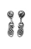 Classic Drop Scroll Earrings