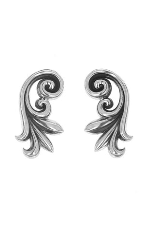 Leaf Scroll Earrings