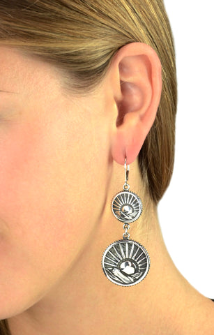 Sun Concho Earrings