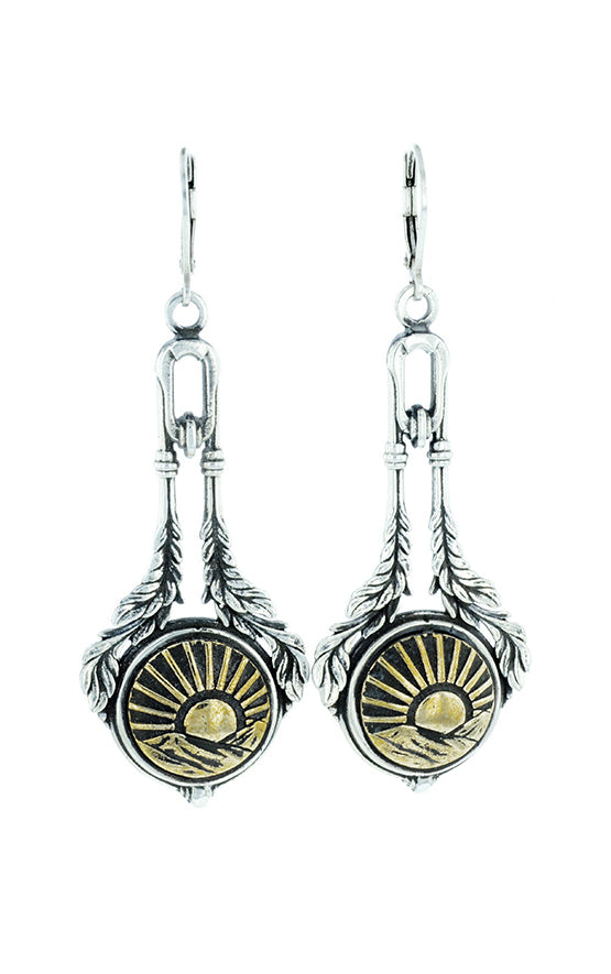 Sun Concho Drop Earrings