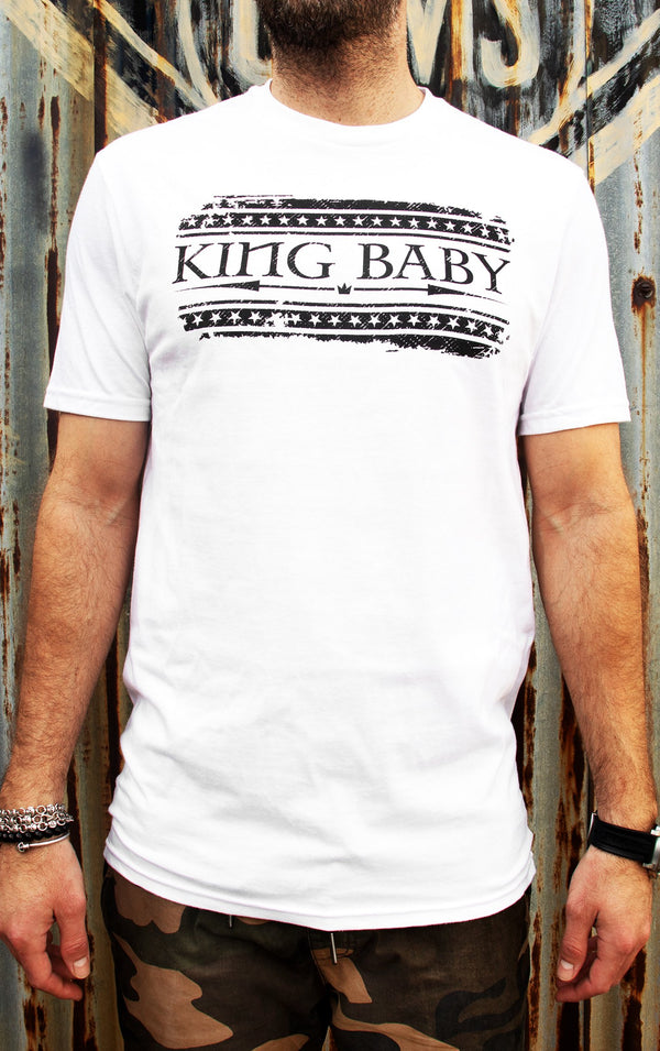 White King Baby Flag Graphic Tee