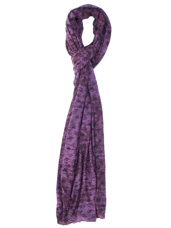 Purple Monogram Scarf