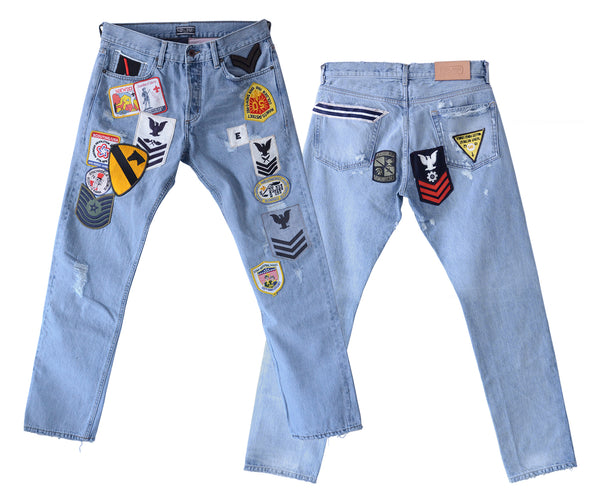 King Baby Denim with Assorted Patches
