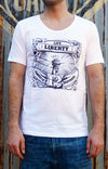 Life, Liberty, Happiness Stamp Tee