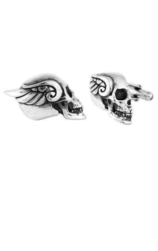 Winged Skull Cufflinks