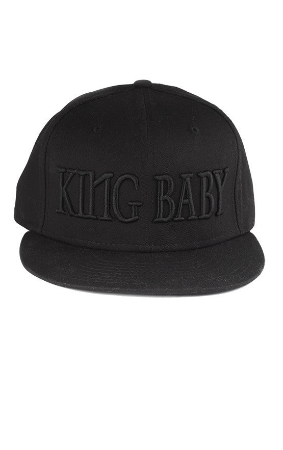 King Baby Hat Black on Black