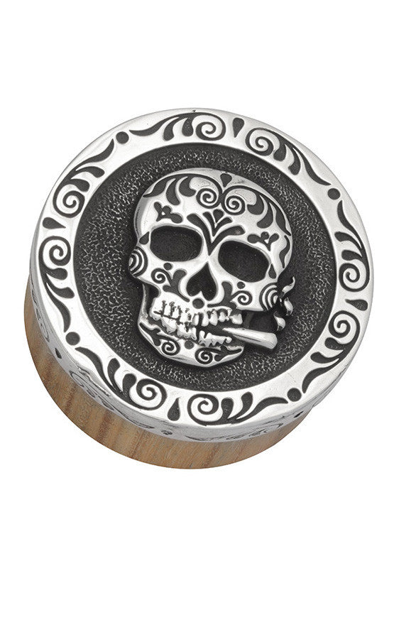 Stash Box w/Silver Day of the Dead Lid