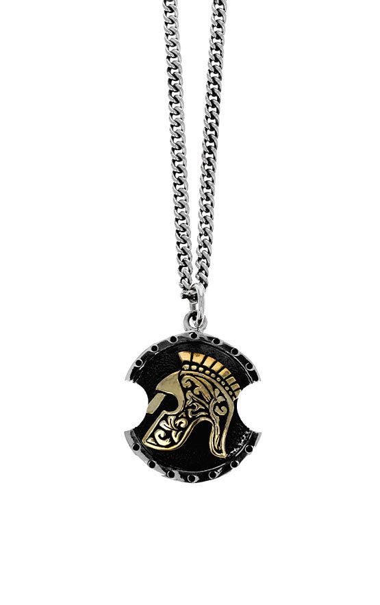king baby spartan shield pendant