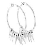 king baby hoop earrings with spikes