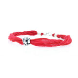 Red Silk Choker With Lotus Flower