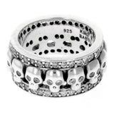 Skull Triple Band Pave CZ