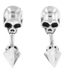Skull Tunnel Earrings with Pyramid Back