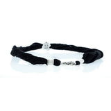Black Silk Choker with Om Symbol