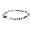king baby men's silver cross chain bracelet