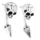 king baby skull earrings
